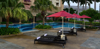 Outdoor pool at Hotel Equatorial Melaka.