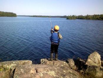 Fishing Fun at Lady Bug Lodge