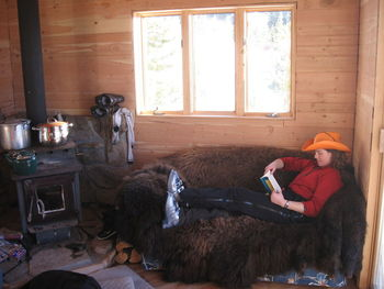 Relaxing at Altoona Ridge Lodge.