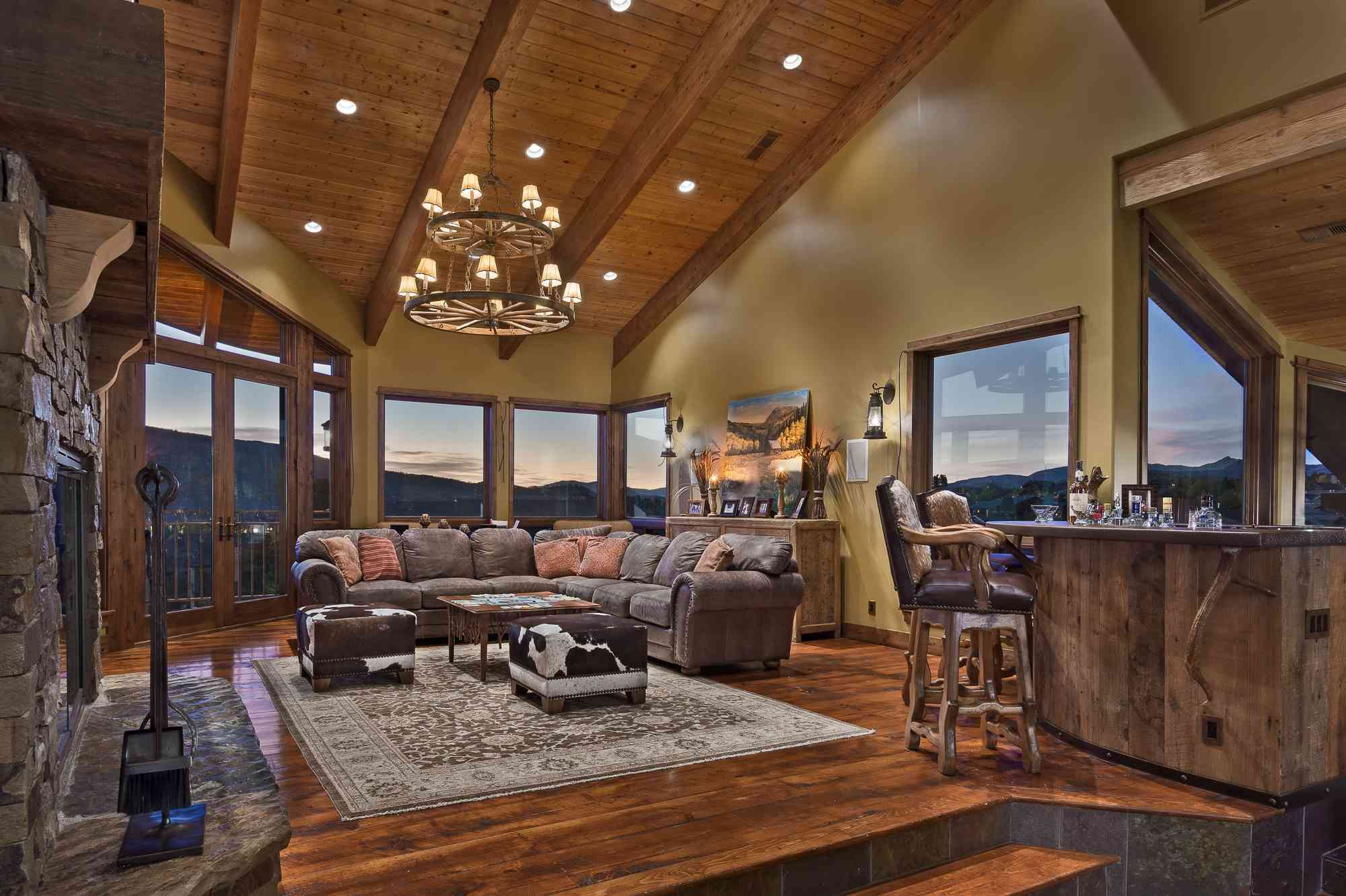 Rental living room at Moving Mountains.