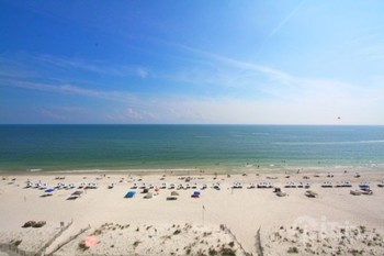 The beach at iTrip - Gulf Shores.