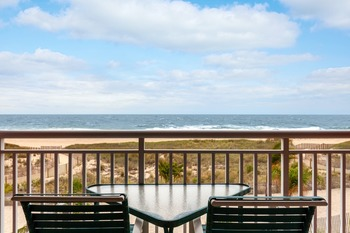 Balcony view at Holiday Inn Oceanfront Ocean City.