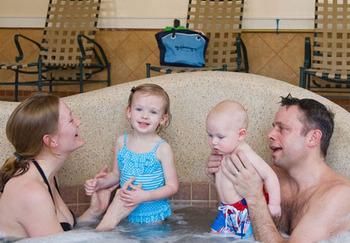 Family time at The Meadowmere Resort.