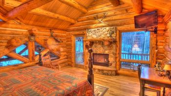 Vacation rental bedroom at SkyRun Vacation Rentals - Telluride, Colorado.