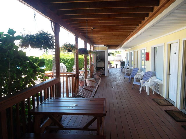 Porch view at Ocean Resort Inn.