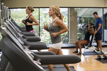 Fitness center at The Woodlands Resort and Conference Center.