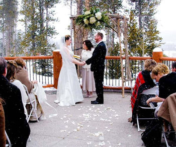 Wedding ceremony at Blue Sky Breckenridge.