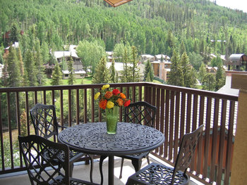 Balcony view at Antlers At Vail.
