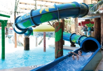 Water slide at Ocean Reef Resort.
