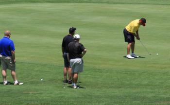 Playing golf at The Terrace at Lake Junaluska.
