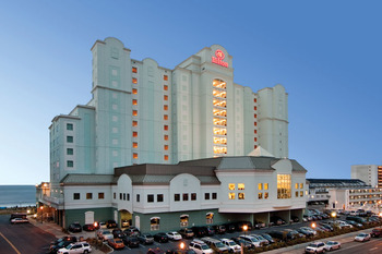Exterior view of Hilton Suites Ocean City Oceanfront.