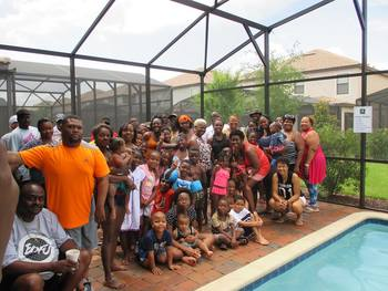 Family reunions at Tropical Escape Vacation Homes.
