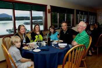 Dining at Shearwater Resort & Marina.