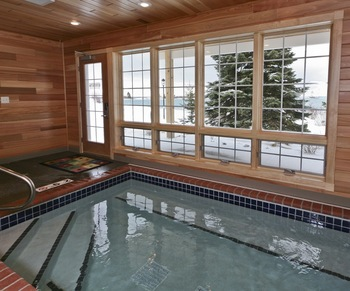 Indoor pool at Grand Marais Hotel Company.