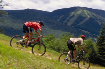 Biking at Waterville Valley Resort.