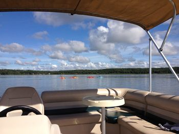 Boating at Auger's Pine View Resort.