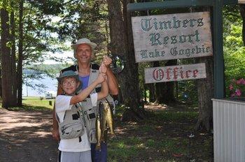 Fishing activities at The Timbers Resort.