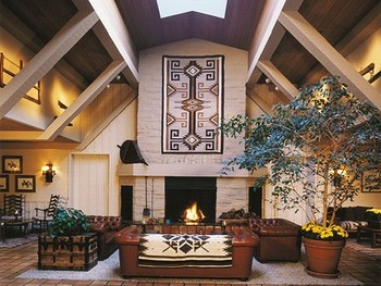 Lobby area at Alisal Guest Ranch and Resort.