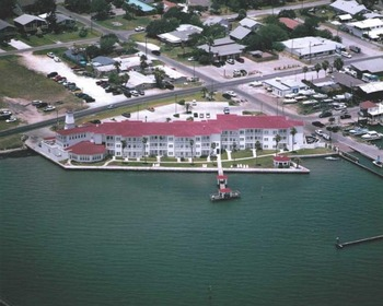 Aerial view of the Lighthouse Inn.