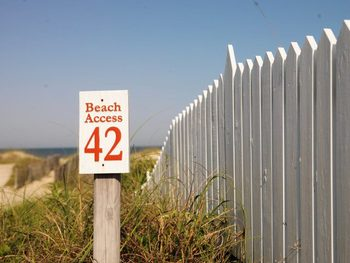 Access to the beach at Bald Head Island.