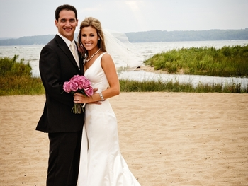 Beach wedding at Grand Traverse Resort.