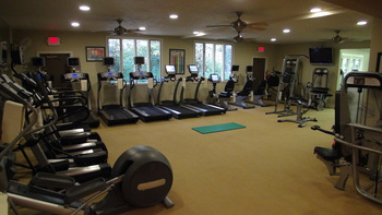 Fitness room at High Hampton Inn.