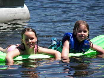 Water activities at White Manor Resort.