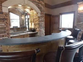 Lobby bar at Fairway Suites.