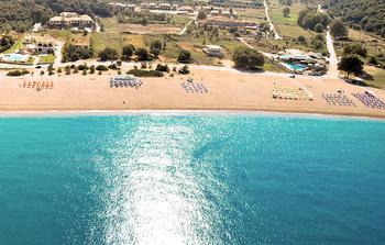The beach at Hotel Perdika Resort.