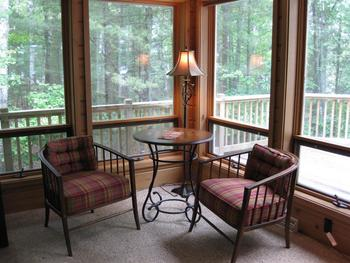 Guest sitting area at Chanticleer Inn.
