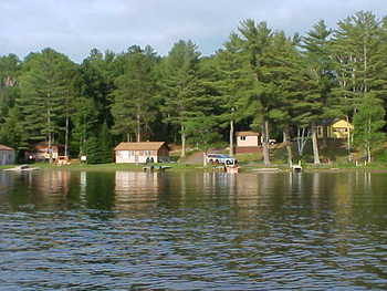 Exterior view of Buckskin Lake Resort.
