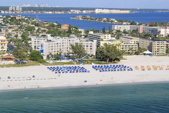 The beach at Guy Harvey Outpost Resort.