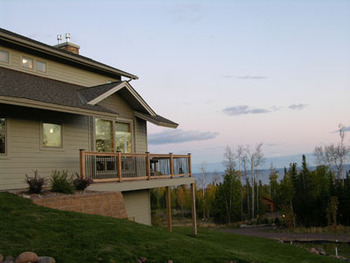 Vacation rental exterior at Lutsen Lodging Company.