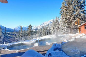 Hot pools at Hidden Ridge Resort.