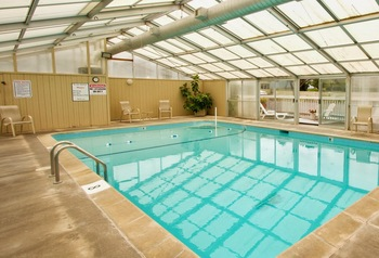 Indoor pool at Pelican Shores Inn.