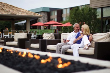 Outdoor Lounge at Geneva Ridge Resort