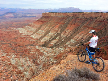 Mountain biking at Zion Ponderosa Ranch.
