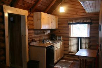 Cabin Interior at Bald Mountain Camps Resort