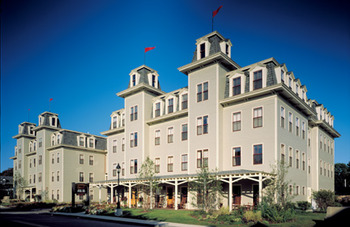 Exterior View of Bar Harbor Grand Hotel