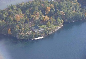 Aerial View of Pine Tree Point Resort