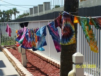 Tie Dye Shirts at Coconut Palms Beach Resort