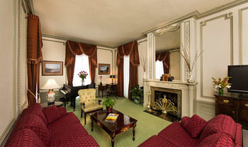 Guest suite at The Jefferson Hotel.