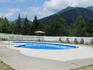 Outdoor Pool at Ledge Rock at Whiteface