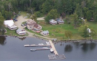 Aerial View of Wilsons on Moosehead Lake