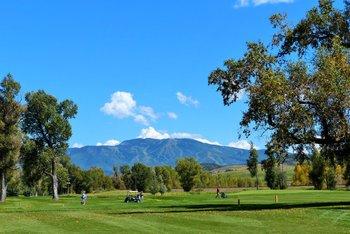 Golf course near Trailhead Lodge.