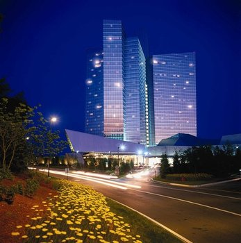 Exterior view of Mohegan Sun.