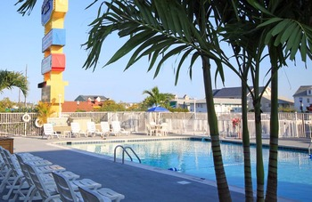 Outdoor pool at Harrison Hall Hotel Ocean City.