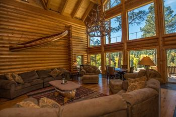 Rental living room at Pagosa Springs Accommodations.