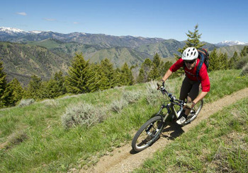 Biking at Sun Valley Resort.