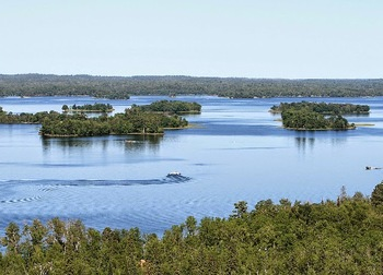 Lake view at Kabetogama Lake Association.